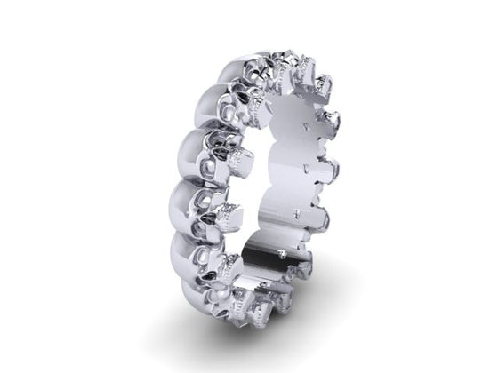 Mens Skull Wedding Bands Page 3 Until Death Inc