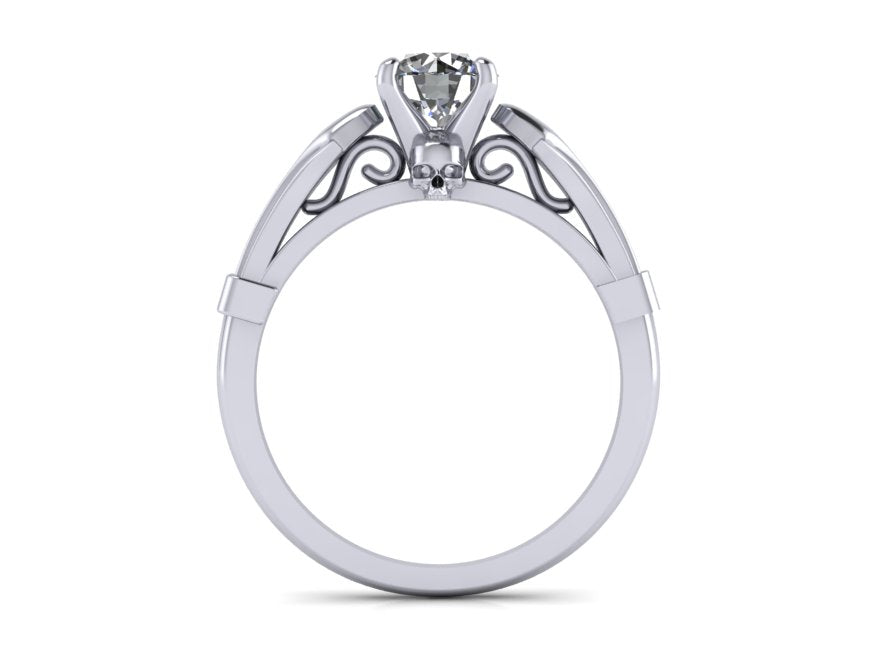 Secret Skull Engagement Ring- UDINC0651