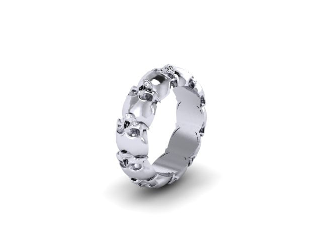 Thicker Skull Eternity Band Solid-UDINC0328