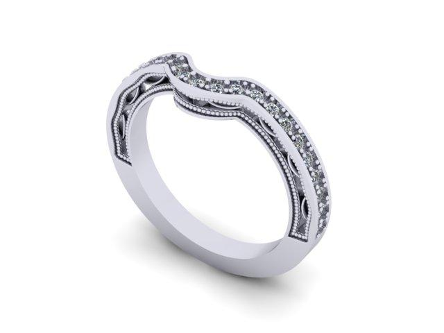 Contour Wedding Band-UDINC0344WB