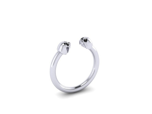 Smaller Double Skull Head Rings-UDINC0494