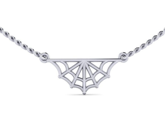 Half Web Necklace-UDINC0690