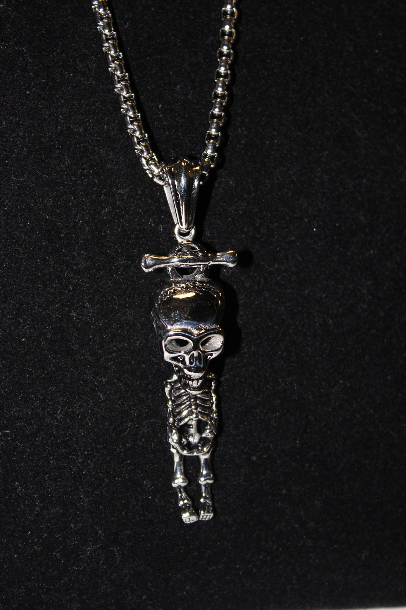 Stainless steel skeleton pendant udinc0462 until death inc stainless steel skeleton pendant udinc0462 aloadofball Image collections