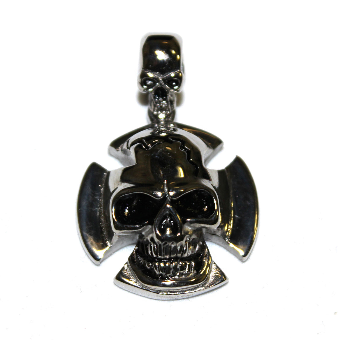 Stainless Steel Small Skull and Cross Pendant- UDINC0482