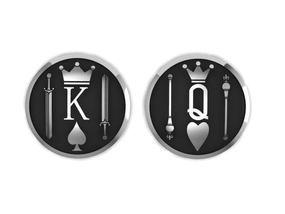 King and Queen Motorcycle Gas Cap SET