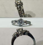 Secret Skull Engagement Ring-UDINC0331