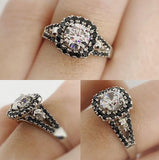 Secret Skull Engagement Ring-UDINC0678