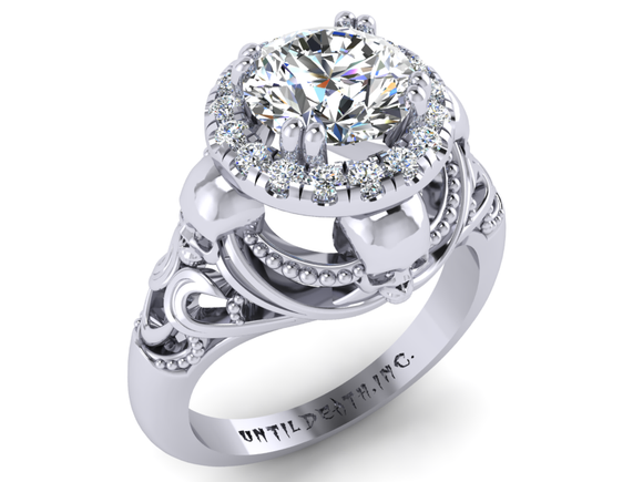 Secret Skull Engagement Ring-UDINC0330