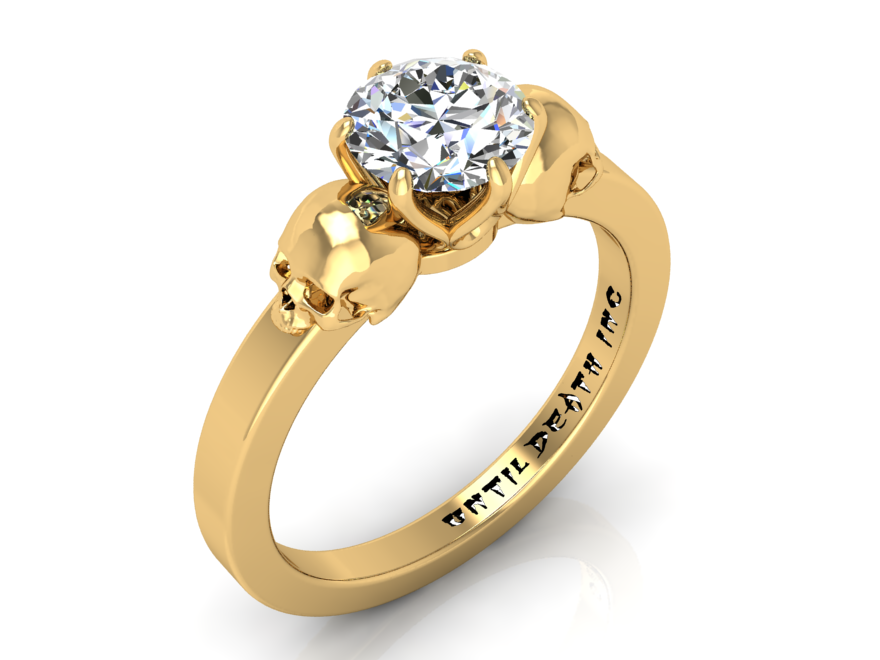 Secret Skull Engagement Ring -UDINC0336
