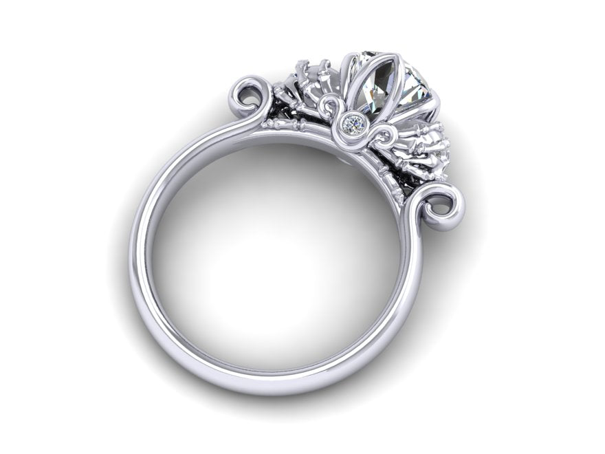 Secret Skull Engagement Ring-UDINC0499