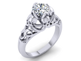 Secret Skull Engagement Ring-UDINC0533