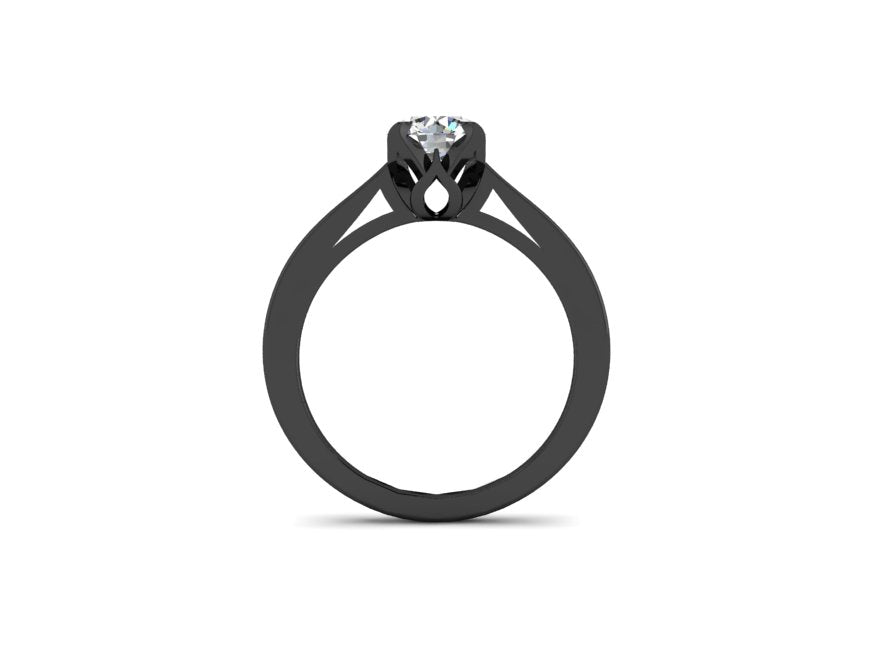 Solitaire Goth Ring-UDINC0604