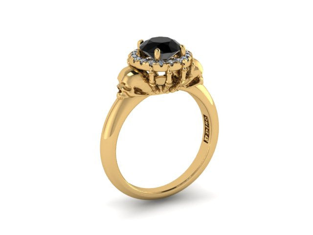 Secret Skull Engagement Ring-UDINC0504