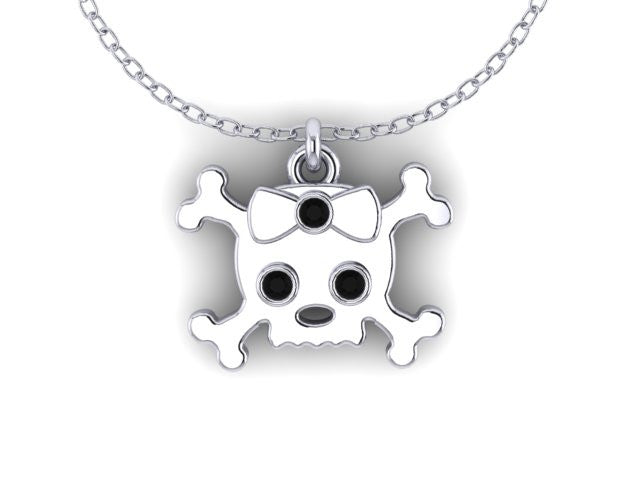 Skull &Cross Bow Pendant-UDINC0542