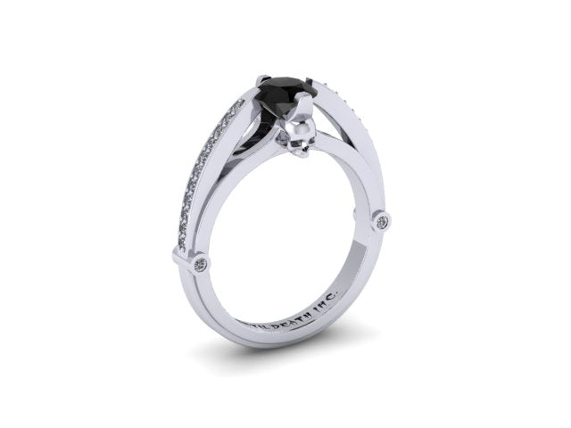 Secret Skull Engagement Ring-UDINC0321