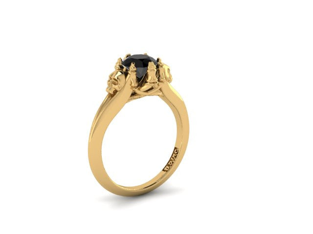 Secret Skull Engagement Ring-UDINC0537