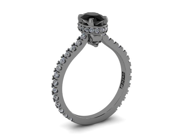 Secret Skull Engagement Ring-UDINC0528