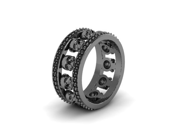 Diamond Skull Eternity Band-UDINC0535