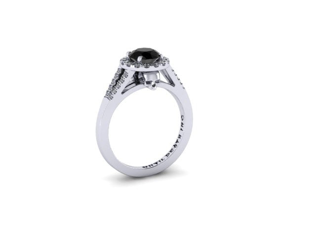 Secret Skull Engagement Ring-UDINC0335