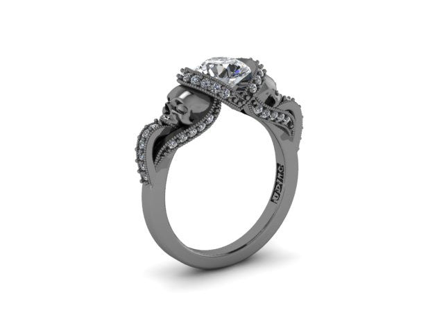 Secret Skull Engagement Ring-UDINC0427