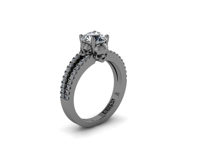 Secret Skull Engagement Ring-UDINC0529