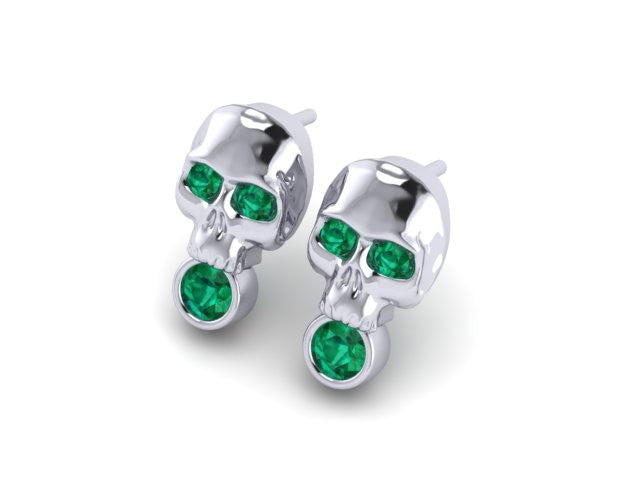 Skull & Stones Stud Earrings-UDINC0500