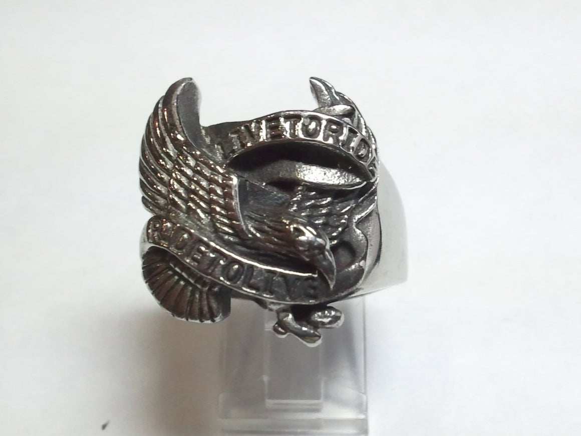 Harley Ride To Live Ring in Sterling Silver Ring-UDINC0048