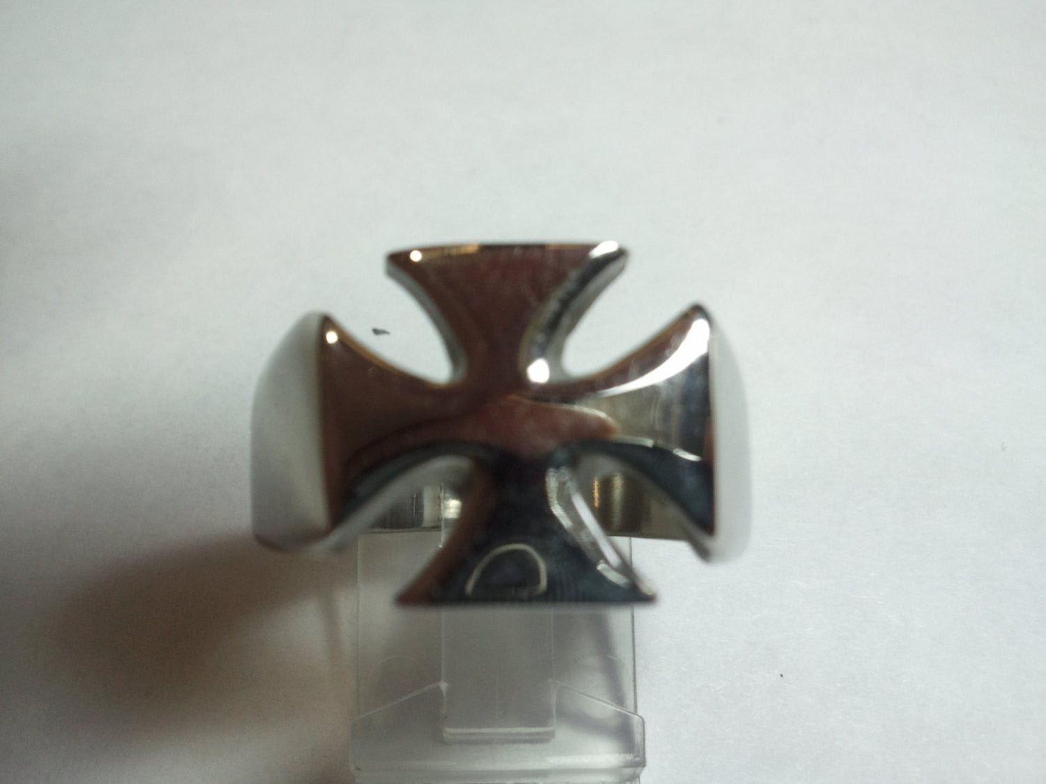 14mm Sterling Silver Iron Cross Ring