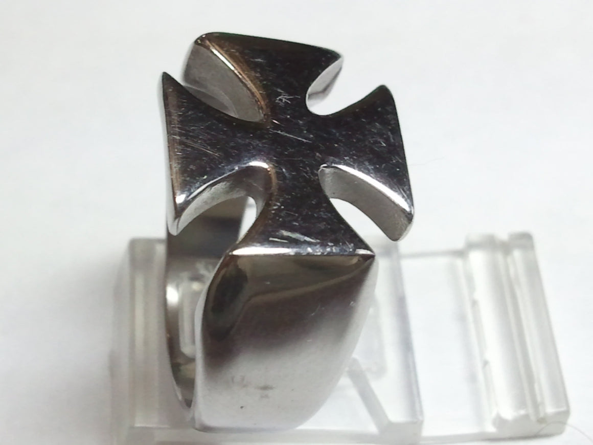 Iron Cross Ring. 925 Sterling Silver Ring-UDINC0039A