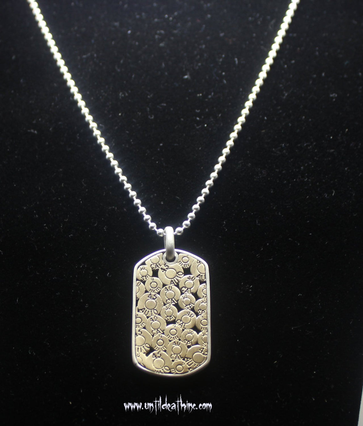 9MM Bullet Collage Dog Tag Pendant