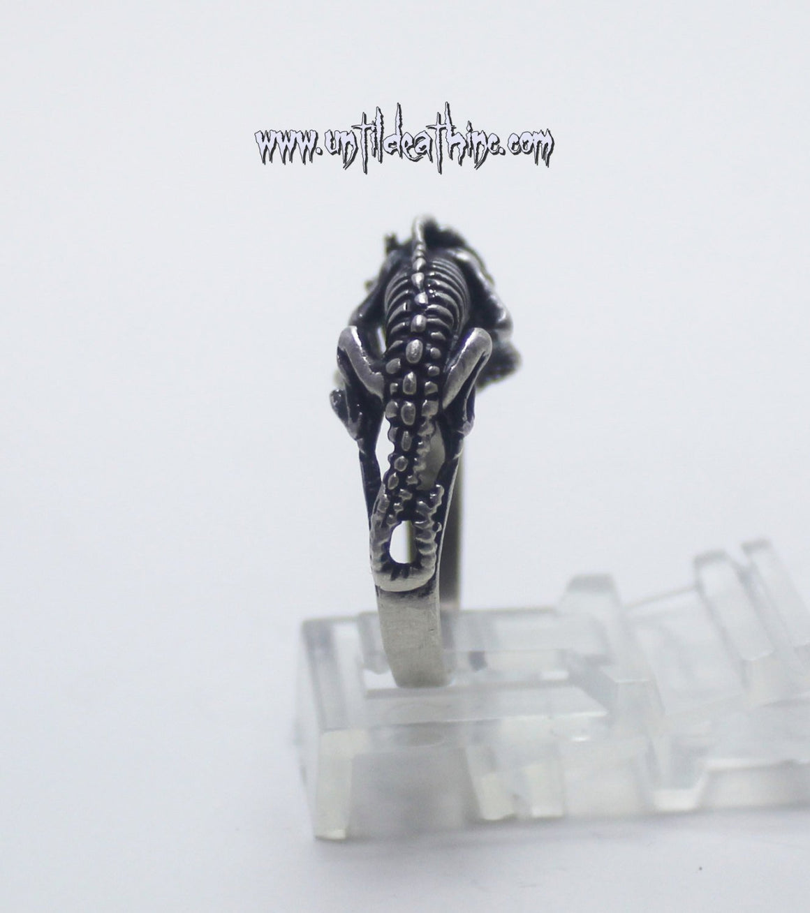 """Skull Face Lizard Creature"" 925 Solid Sterling Silver Ring-UDINC0040"