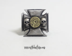 """Maltese cross with 38 Special Bullet primer""-UDINC0052"