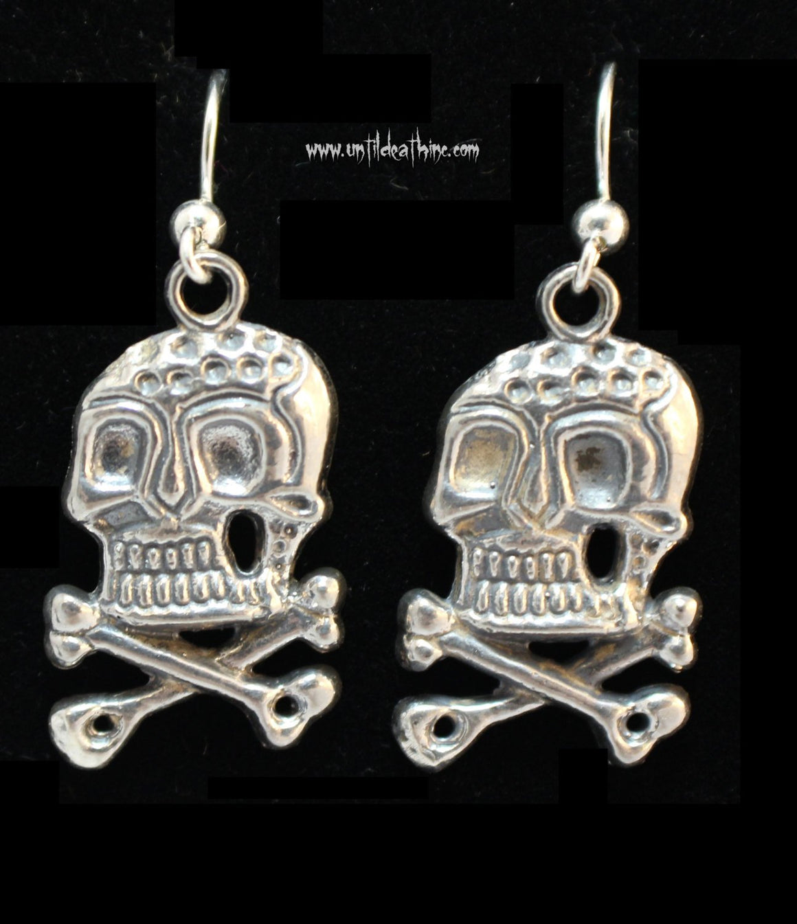German Style WWII Skull in STERLING SILVER