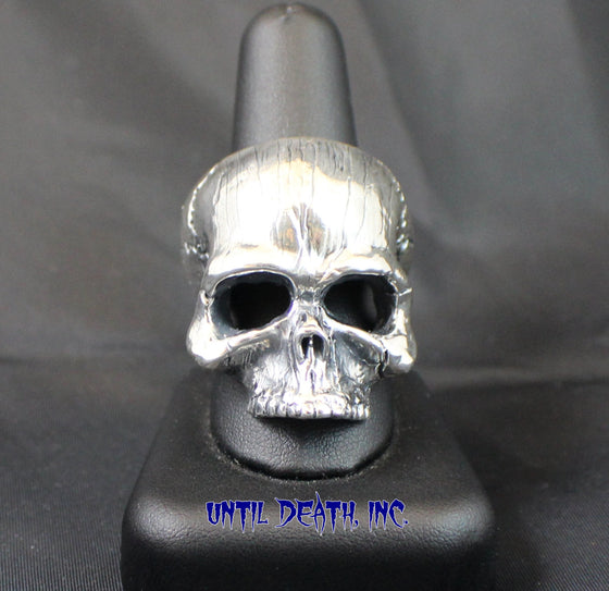 "Until Death, Inc. ""Goliath Skull"" Huge .925 Sterling Silver Biker Skull Ring.-UDINC0307"