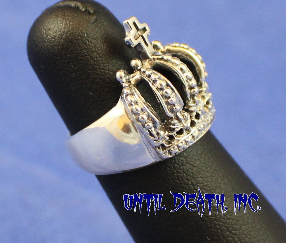 Cross & Crown in STERLING SILVER-UDINC308
