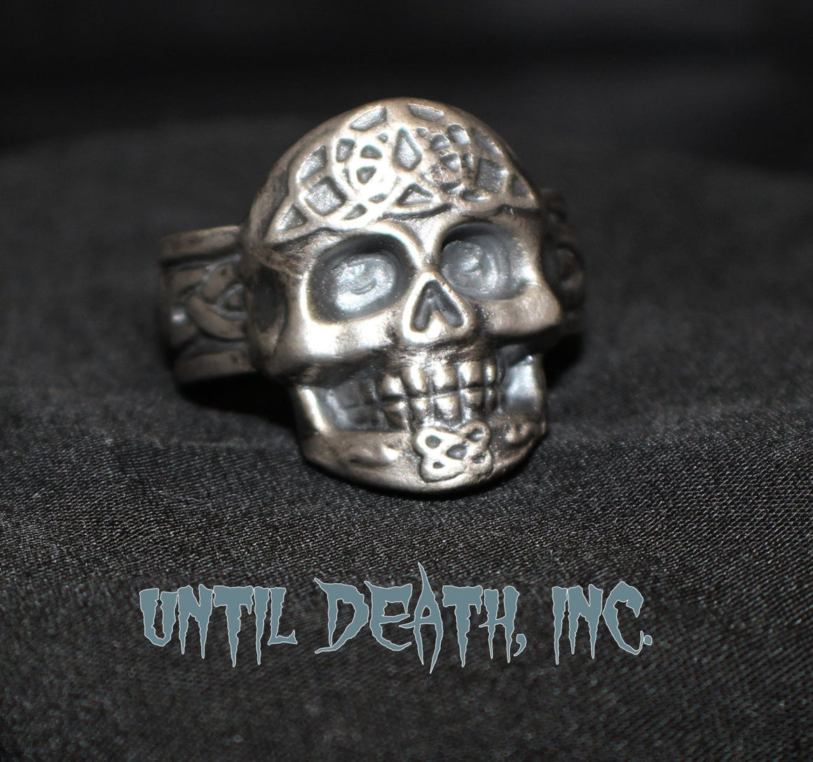 Atomic Skull With Celtic Band in STERLING SILVER-UDINC0057