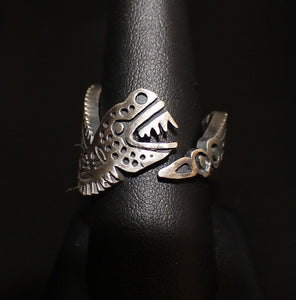 """Aztec Snake"" Ring in Sterling Silver -UNINC0072"