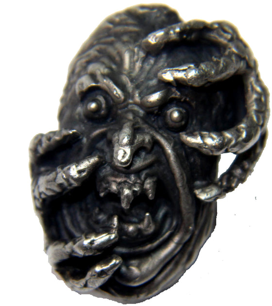 """The Screaming Thing"" Huge .925 Sterling Silver Ring."