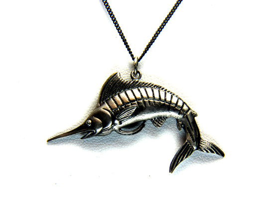 """Marlin Swordfish"" in STERLING SILVER- UDINC0116"