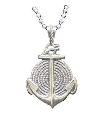 """Anchor & Rope"" in STERLING SILVER- UDINC0107"