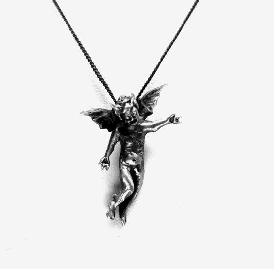 """Cherub Demon"" in STERLING SILVER -UDINC0190"