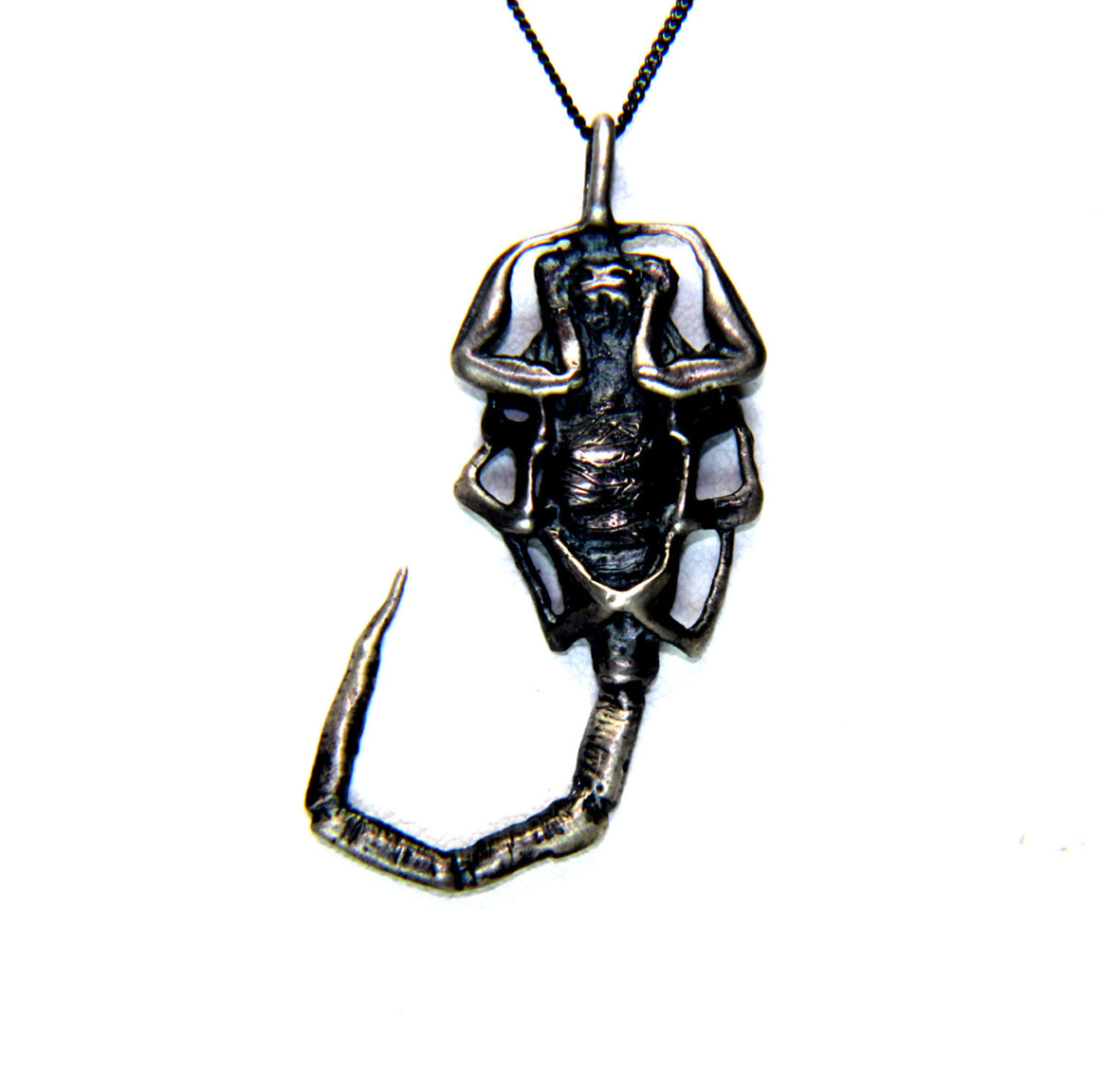 "Until Death, Inc. ""Scorpion ""  Custom Solid Sterling Silver .925 Pendant"
