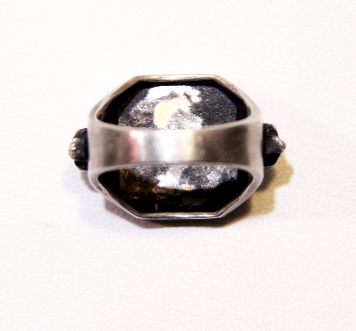Until Death, Inc. Maltese Cross Signet Ring with Skull Accents. Solid 925 Sterling Silver.-UDINC0029