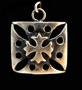 "Until Death, Inc. ""Double Maltese Cross""  Solid .925 Sterling silver. Charm"