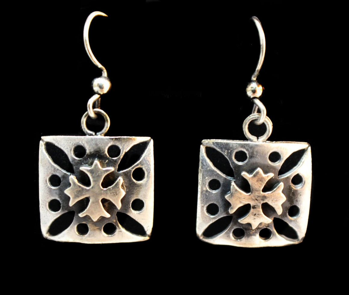 """Double Maltese Cross"" in STERLING SILVER- UDINC0120"