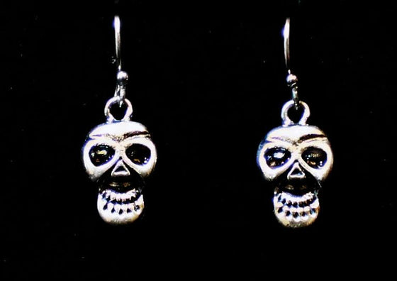"""Smiling Skull"" in STERLING SILVER-UDINC0127"