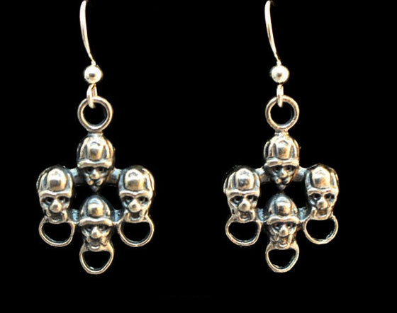 """Ancient Faces"" Dangle Earring Pair-UDINC0123"