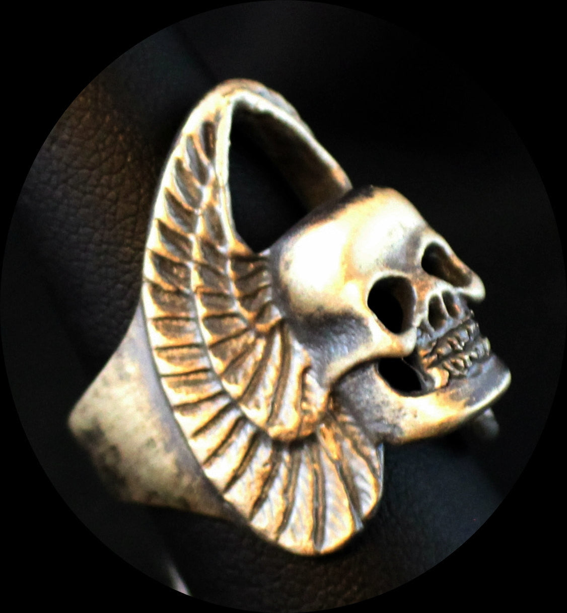"UNTIL DEATH, INC. ""Classic Winged Skull""  .925 Heavy Sterling Silver Biker Ring-UDINC0090"