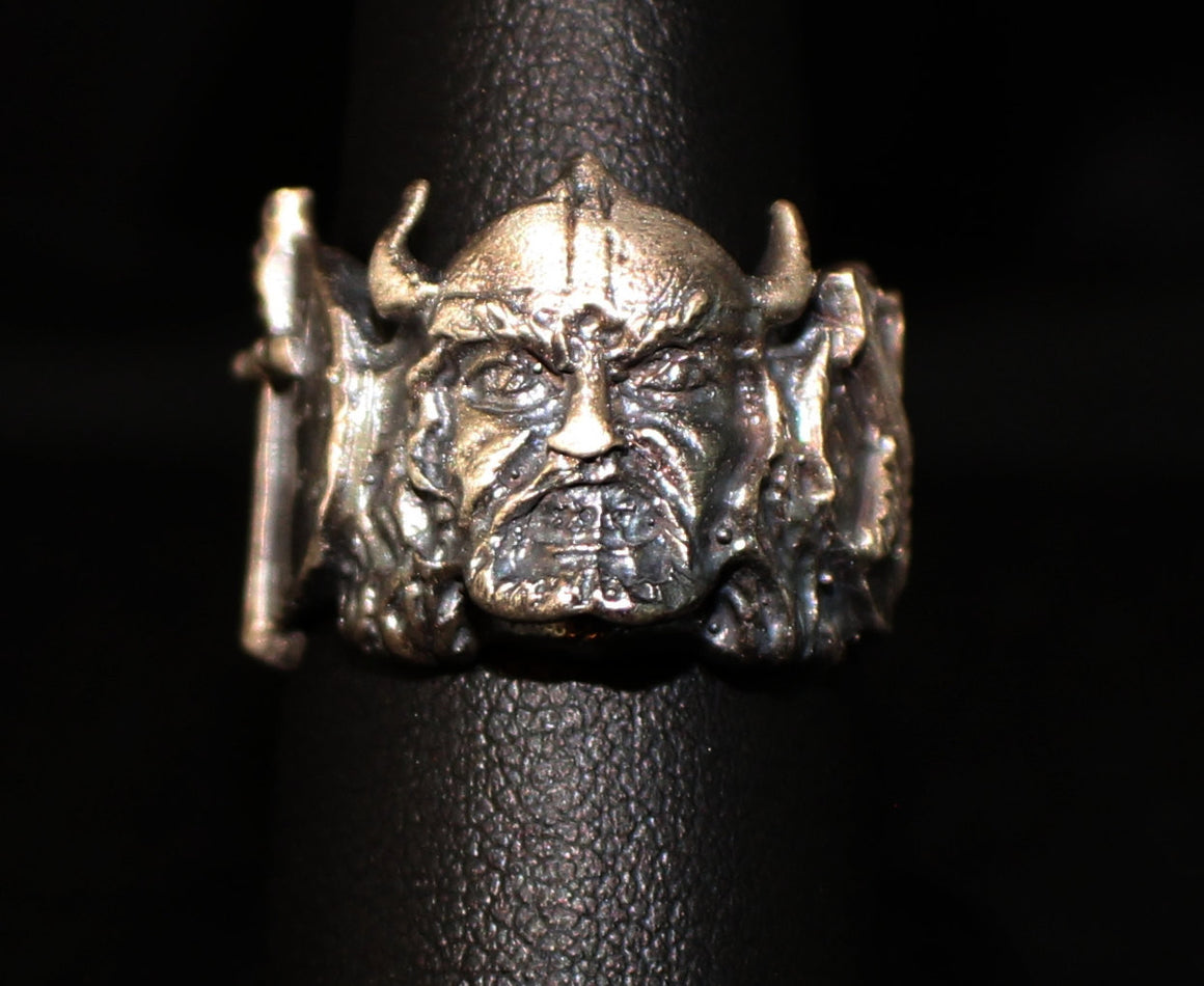 "UNTIL DEATH, INC. ""Viking""  .925 Heavy Sterling Silver Biker Ring-UDINC0088"
