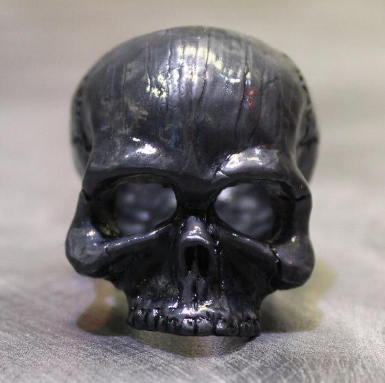 "Until Death, Inc. ""Black Goliath Skull"" Huge .925 Sterling Silver Biker Skull Ring.-UDINC307"